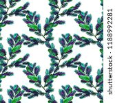 fir branch seamless pattern.... | Shutterstock . vector #1188992281