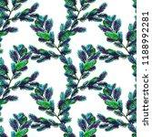 fir branch seamless pattern.... | Shutterstock . vector #1188992281