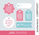 vector set of printable... | Shutterstock .eps vector #1188993457