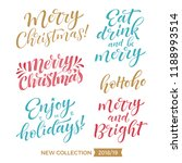 merry christmas and happy new... | Shutterstock .eps vector #1188993514