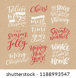 set of calligraphic and... | Shutterstock .eps vector #1188993547