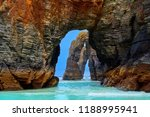 playa las catedrales catedrais... | Shutterstock . vector #1188995941
