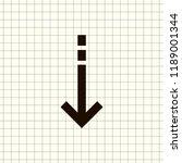 undo arrow icon  motion icon....   Shutterstock .eps vector #1189001344