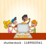 group of cartoon children... | Shutterstock .eps vector #1189003561
