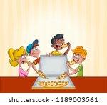 group of cartoon children... | Shutterstock .eps vector #1189003561