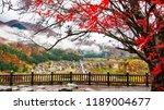 a view of shirakawago village... | Shutterstock . vector #1189004677