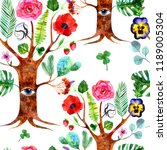 The Tree Of Life. Watercolor...