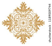 damask graphic ornament. floral ... | Shutterstock .eps vector #1189009744