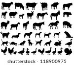farm animals | Shutterstock .eps vector #118900975