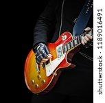 close up of a guitar player... | Shutterstock . vector #1189016491