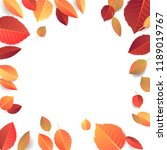 autumn seasonal banner template.... | Shutterstock . vector #1189019767