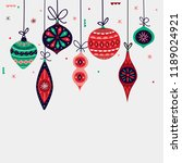 christmas decorations balls.... | Shutterstock .eps vector #1189024921