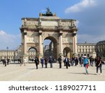 paris  france   may 16  2018 ... | Shutterstock . vector #1189027711