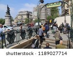 paris  france   may 16  2018 ... | Shutterstock . vector #1189027714