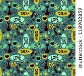 cute seamless pattern | Shutterstock .eps vector #118902859