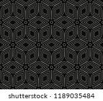 vector monochrome seamless... | Shutterstock .eps vector #1189035484