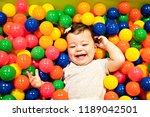 portrait of a adorable infant... | Shutterstock . vector #1189042501