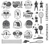 set of paddle tennis badge ... | Shutterstock .eps vector #1189056634