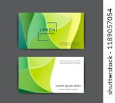 color business card template... | Shutterstock .eps vector #1189057054