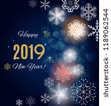 2019 happy new year and marry... | Shutterstock .eps vector #1189062544