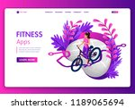 template website isometric... | Shutterstock .eps vector #1189065694