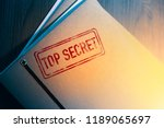 private investigator desk with... | Shutterstock . vector #1189065697