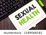text sign showing sexual health.... | Shutterstock . vector #1189068181