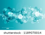 geometric abstract background... | Shutterstock .eps vector #1189070014