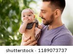 family  fatherhood and people...   Shutterstock . vector #1189073737