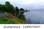 stony shore of the lake with... | Shutterstock . vector #1189073947