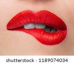 close up beauty portrait model...   Shutterstock . vector #1189074034
