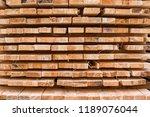 piles of wooden boards in the... | Shutterstock . vector #1189076044