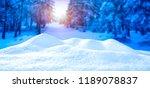 nice white snow against the...   Shutterstock . vector #1189078837