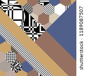 background with geometric... | Shutterstock .eps vector #1189087507