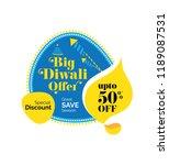 big diwali festival sale  offer ... | Shutterstock .eps vector #1189087531