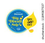 big diwali sale  offer banner... | Shutterstock .eps vector #1189087537
