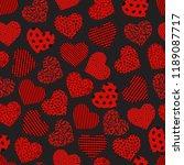 seamless geometric heart... | Shutterstock .eps vector #1189087717