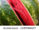 red sweet ripe watermelon...   Shutterstock . vector #1189088647