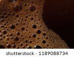 macro of aroma coffee foam...   Shutterstock . vector #1189088734
