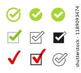 tick icons symbol set ... | Shutterstock . vector #1189093474