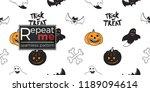 halloween seamless pattern....   Shutterstock .eps vector #1189094614