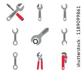 wrenchs and pliers   Shutterstock .eps vector #1189099861