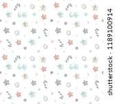 christmas and new year pattern... | Shutterstock . vector #1189100914