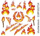 set of fier elements  bonfire ... | Shutterstock .eps vector #1189102714