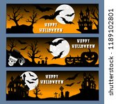 halloween banners leaflets... | Shutterstock .eps vector #1189102801