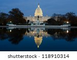 Stock photo view on capitol in washington dc on dusk 118910314