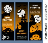 halloween banners leaflets... | Shutterstock .eps vector #1189105264