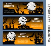 halloween banners leaflets... | Shutterstock .eps vector #1189105294