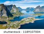 reine lofoten norway  aerial... | Shutterstock . vector #1189107004