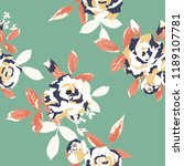 seamless floral pattern.... | Shutterstock .eps vector #1189107781